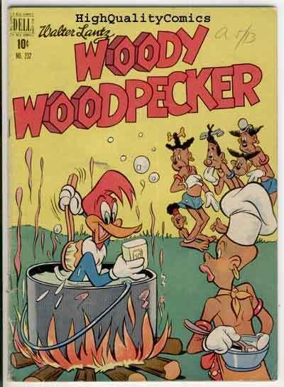 WOODY WOODPECKER #232, (#4), VG/VG+, Walter Lantz,1949, Dell publishing