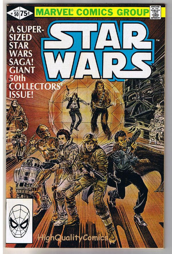 STAR WARS #50, VF/NM, Luke Skywalker, Darth Vader, 1977, more SW in store