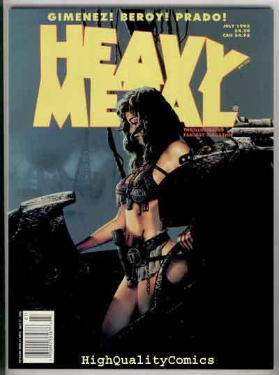 HEAVY METAL July 1995, NM, Simon Bisley, Gimenez, Ozkan, Striptease, 1977, Mag