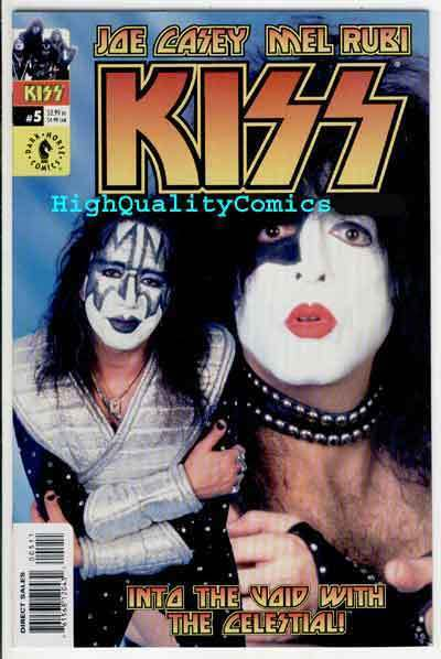 KISS #5, NM+, Rock 'n Roll, Gene Simmons, Photo cover, Stanley, 2002