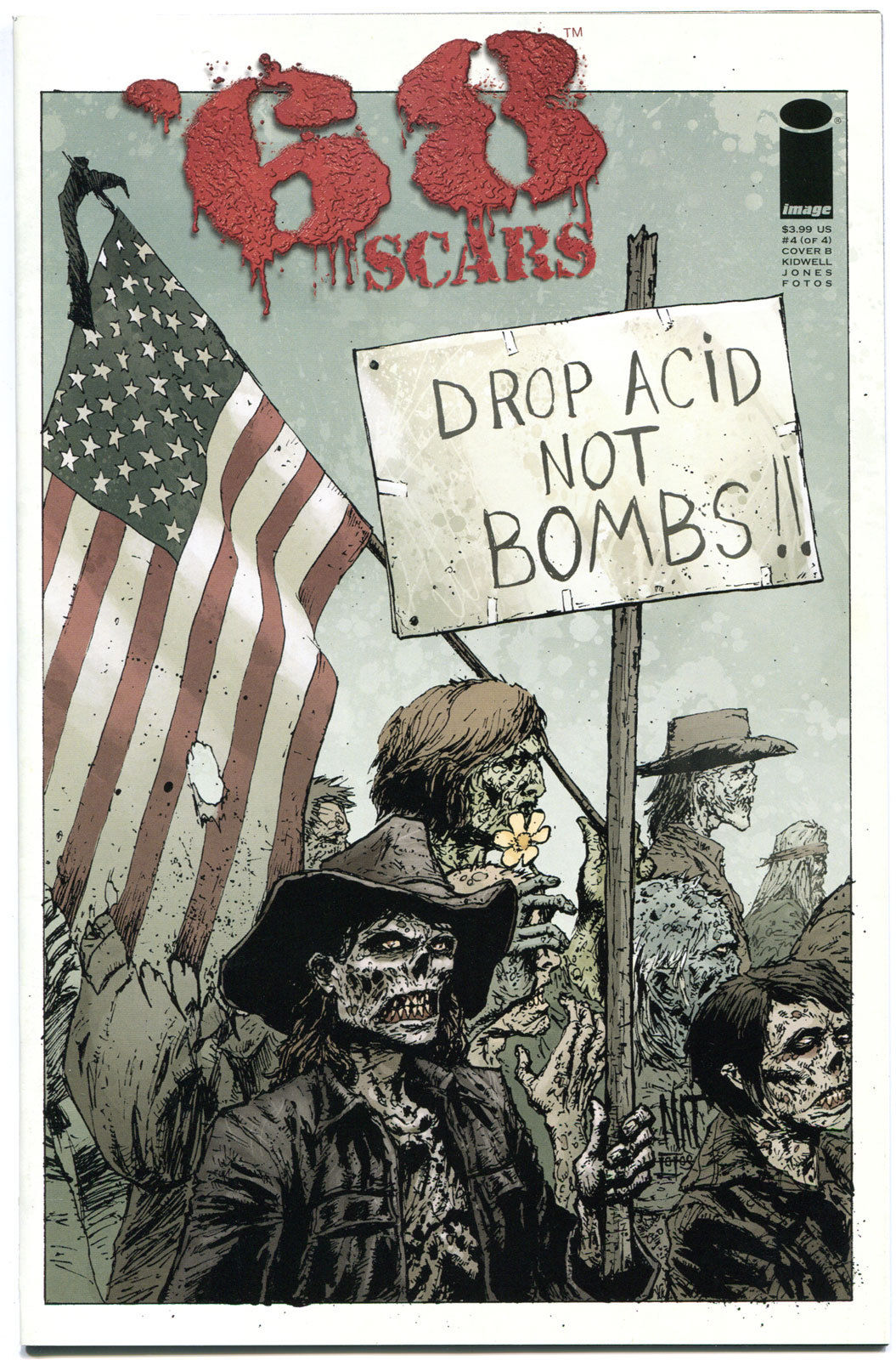 '68 Scars #4 B, 1st Print, NM, Zombie, unDead. Vietnam War, 2012, more in store