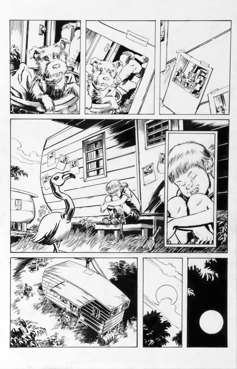 DEAN KOTZ Original Published Art, TRAILER PARK of TERROR #6 page 25,Zombies