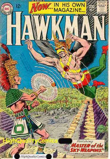 HAWKMAN #1, VG+, Mayans, Indians, Weapons, Birdman, 1964 , Murphy Anderson