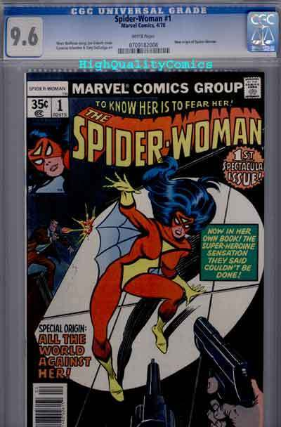 SPIDER-WOMAN #1, NM+, Sinnott, Origin, CGC =9.6, 1978, WP, more CGC in store