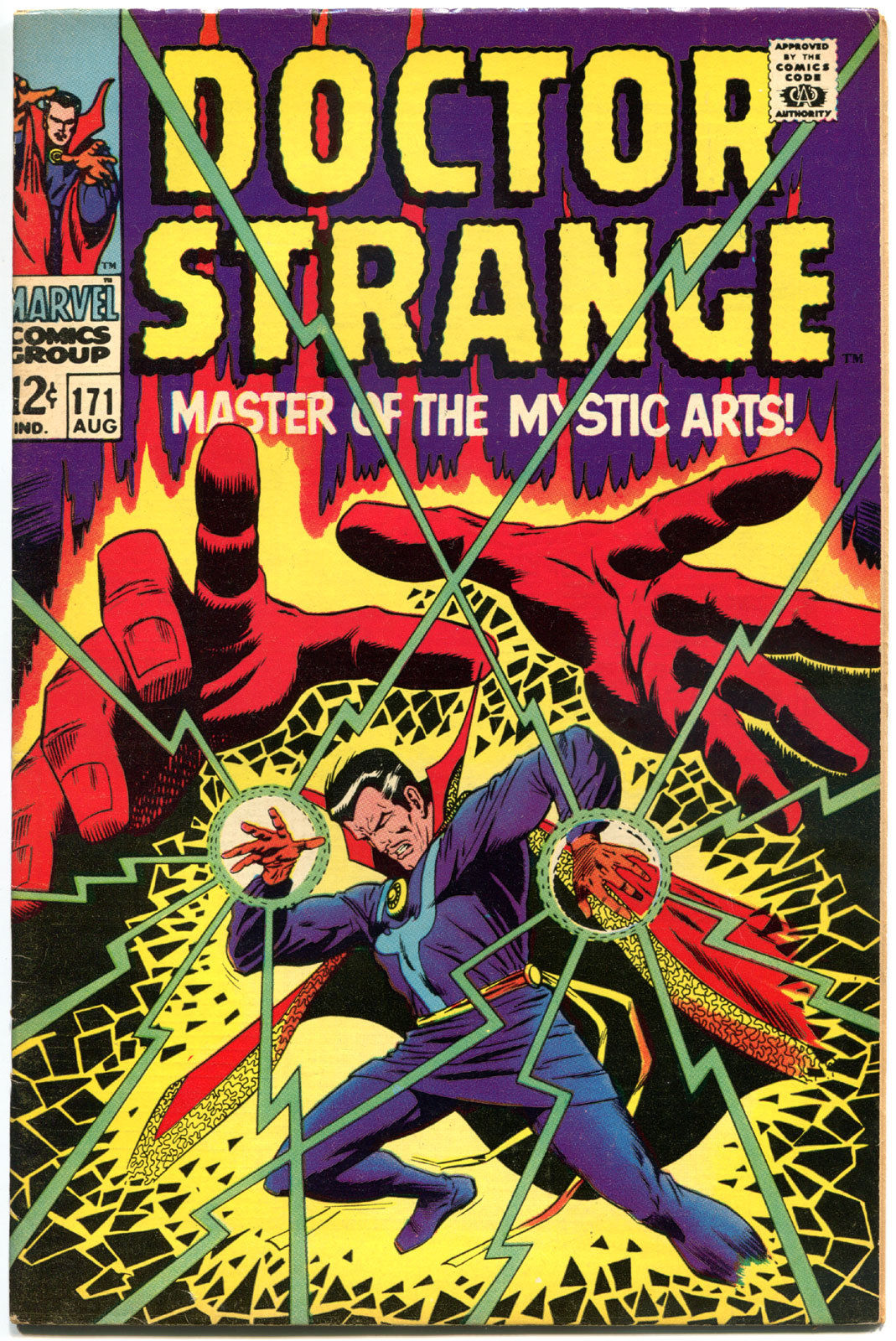 DOCTOR STRANGE #171, VF-, Mystic Arts, Tom Palmer,1968, more DS in store