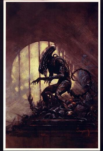 ARTHUR SUYDAM, ALIEN  print, Bars, Sewer, Aliens, Terror,  Horror, 11