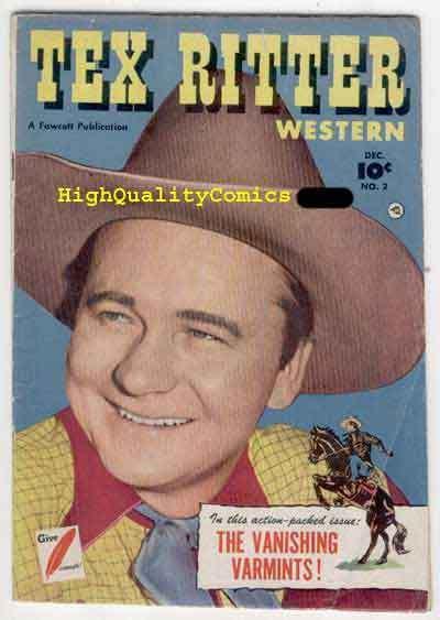TEX RITTER #2, Western, 1950, Guns, Posse, Photo cv, Varmits
