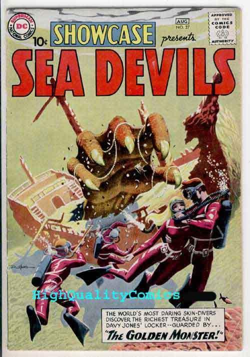 SHOWCASE #27, VG, 1st Sea Devils, Russ Heath, 1960, , more Silver age in store