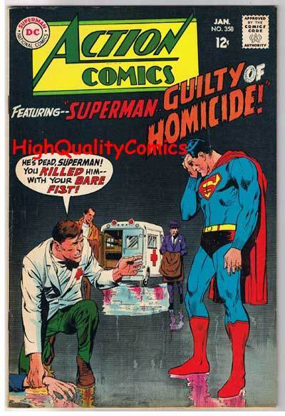 ACTION COMICS #358, FN, Superman, Neal Adams, Homicide, more SM in store