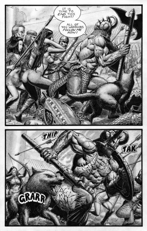 SEAN PATTY original art, WORGARD VIKING BERSERKER, 11