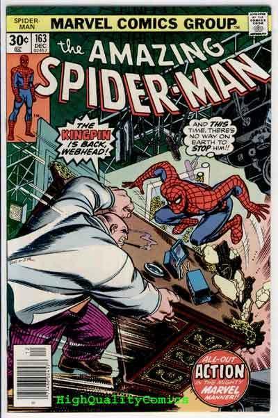 SPIDER-MAN #163, VF, Kingpin, Ross Andru, Amazing, 1963, Len Wein