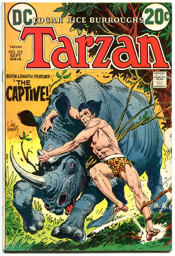 TARZAN of the APES #212, FN+, Edgar Rice Burroughs,Joe Kubert,1972,more in store