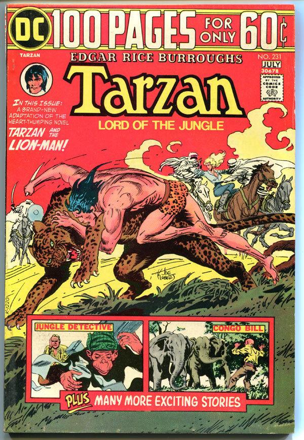 TARZAN of the APES #231, FN, Edgar Rice Burroughs, Joe Kubert,1972,more in store