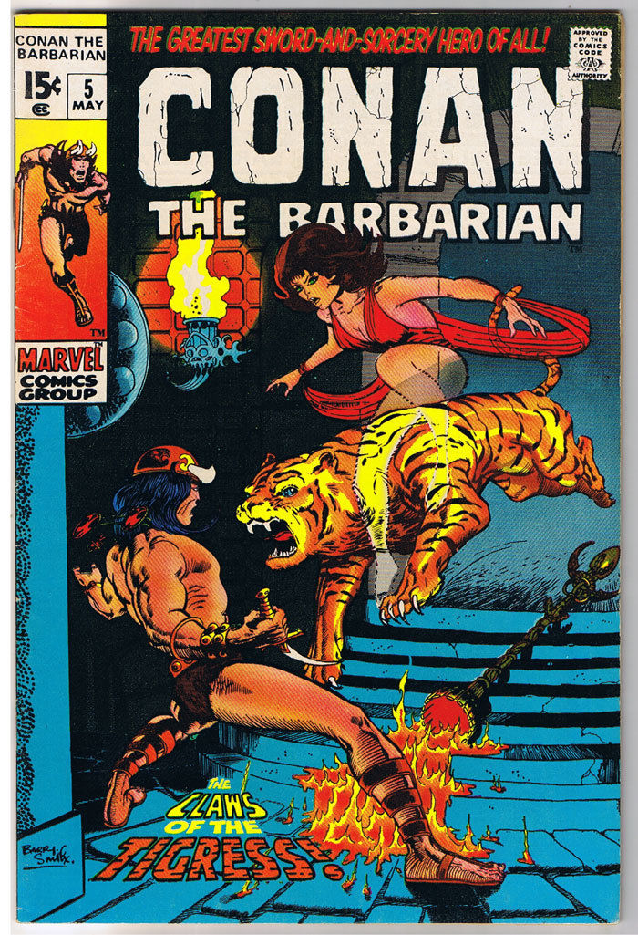 CONAN the BARBARIAN #5, VF, Robert E Howard, Barry Smith, Zukala's Daughter