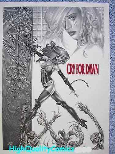CRY FOR DAWN Print, 1993, Joseph Linsner, Demons, Femme, more JML in store