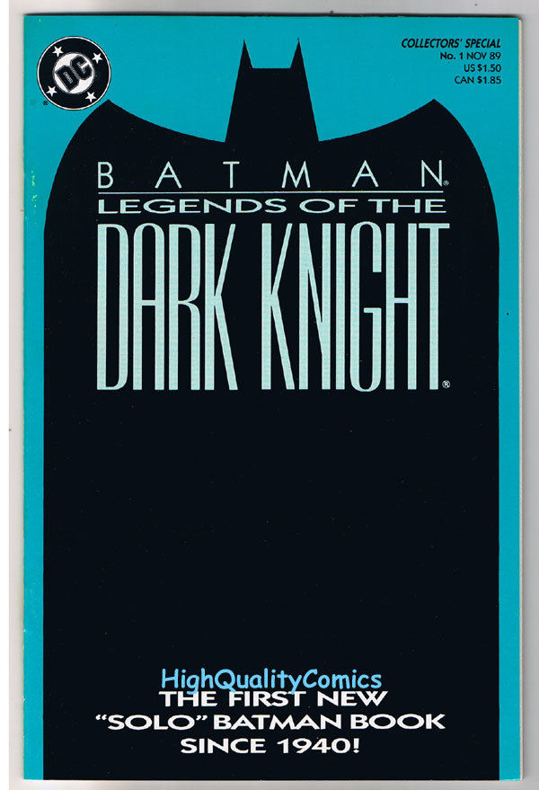 BATMAN: LEGENDS OF THE DARK KNIGHT #1, NM, Shaman, 1989, Hannigan, John Beatty