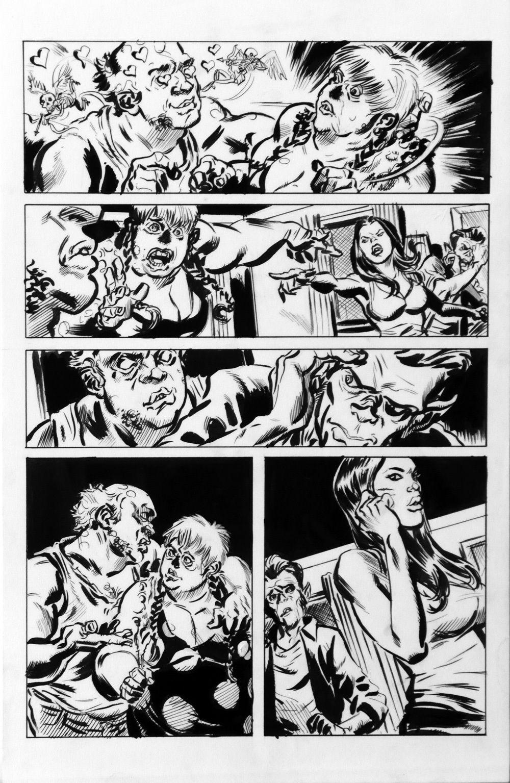 DEAN KOTZ Original Published Art, TRAILER PARK of TERROR #10 page 17, Zombies
