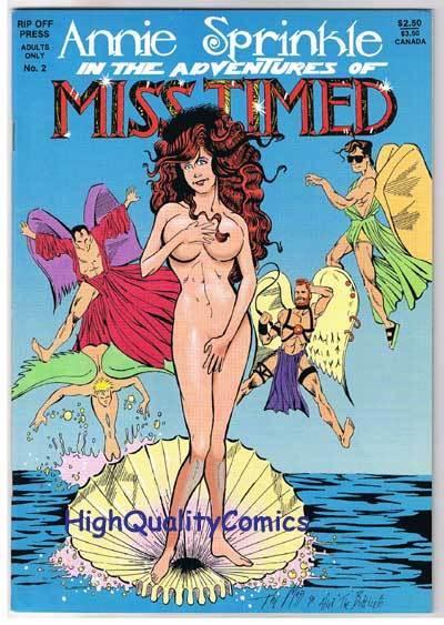 ANNIE SPRINKLE is MISS TIMED #2, Nudity, Sex, 1990, NM-