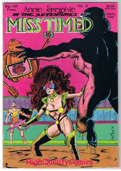 ANNIE SPRINKLE is MISS TIMED #3, Nudity, Sex, 1990, NM-