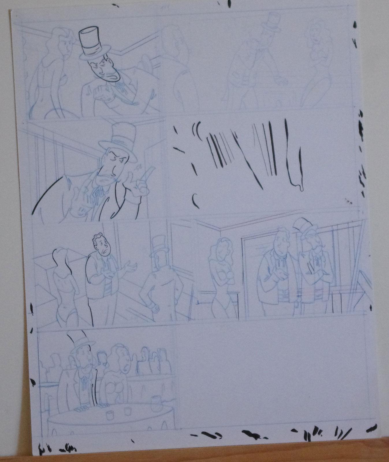 DOUGLAS PASZKIEWICZ original art, ARSENIC LULLABY BIG STALL pg 11, 11