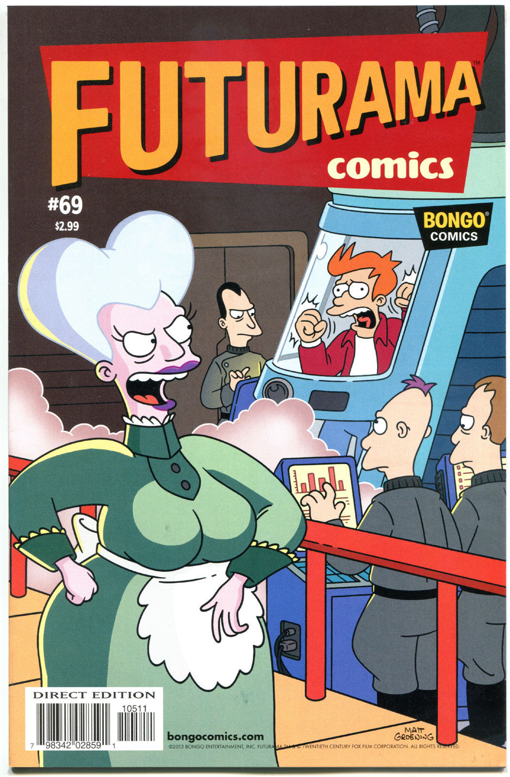 FUTURAMA #69, NM, Bongo, Fry, Bender, Leela, Prof Farnsworth, more in store