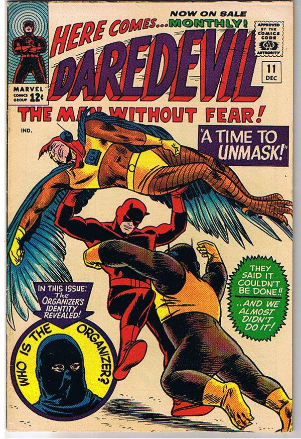DAREDEVIL #11, FN+, Wally Wood, Cat Man, Murdock, Stan Lee, more DD in store