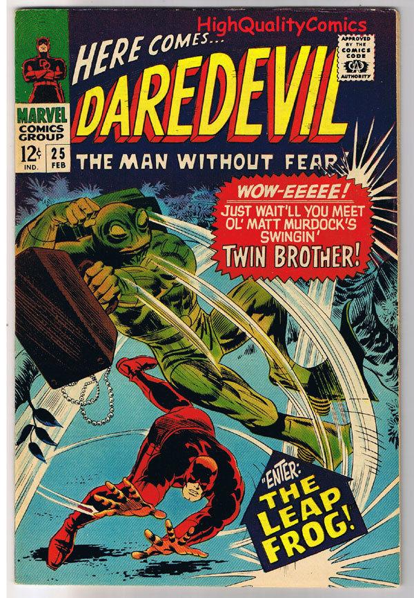 DAREDEVIL #25, VF, Gene Colan, Leap Frog, Stan Lee, 1964, more DD in store
