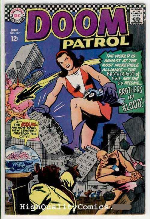 DOOM PATROL #112, VG, Brain, Robot, Brothers in Blood, 1967