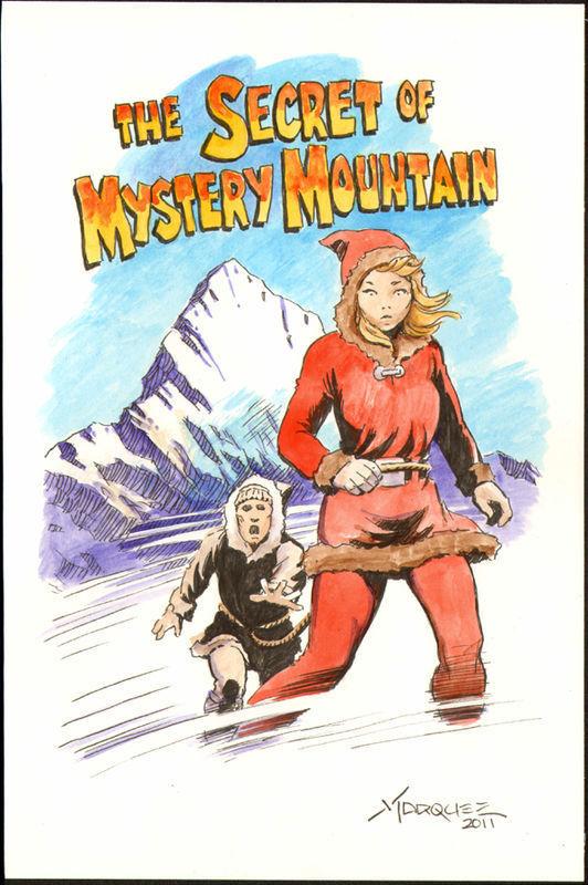 DON MARQUEZ original art, SECRET of MYSTERY MOUNTAIN, Yeti or, 7