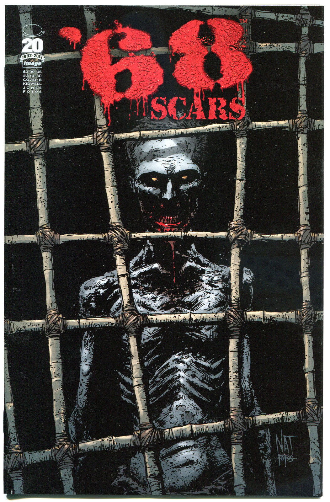 '68 Scars #3 B, 1st Print, VF+, Zombie, unDead. Vietnam War, 2012, more in store
