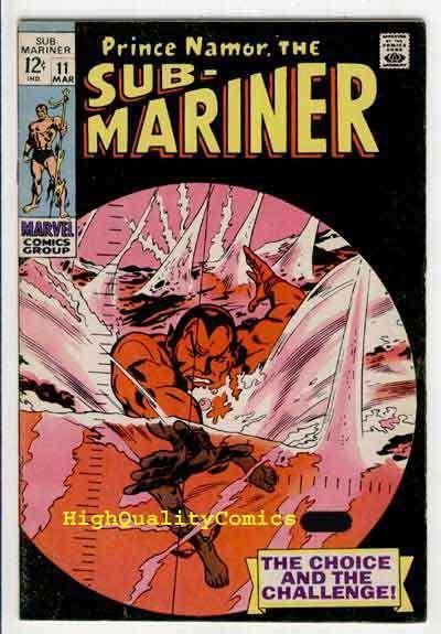 SUB-MARINER #11, FN, Gene Colan, 1969, Alantis, Torpedo, more in store