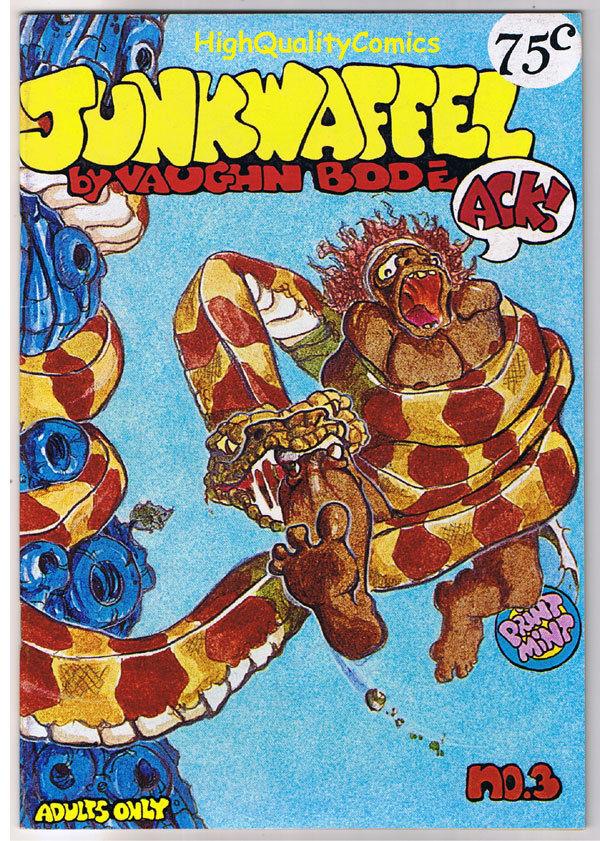 JUNKWAFFEL #3, VF, Underground, 2nd, Vaughn Bode,1972, more UG in store