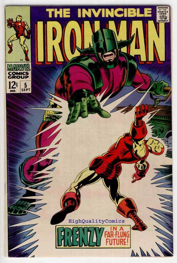 IRON MAN #5, VF, Invicible, Robot, George Tuska, 1968, more IM in store