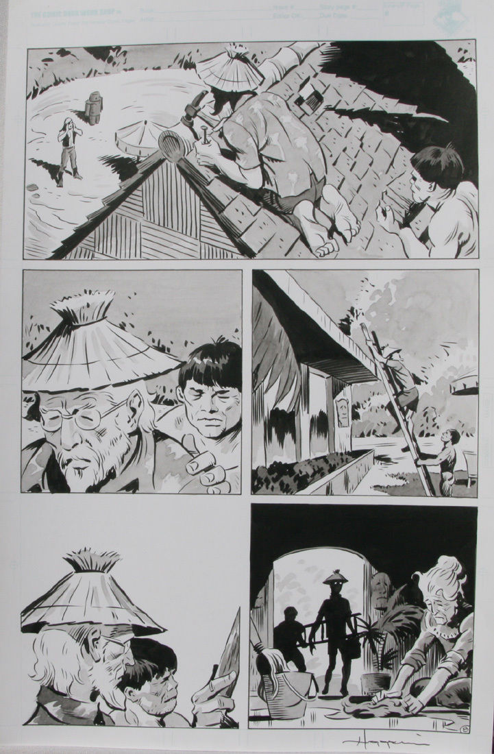 TIGRESS TALES #5 Original Mike Hoffman art, Page #8, Signed