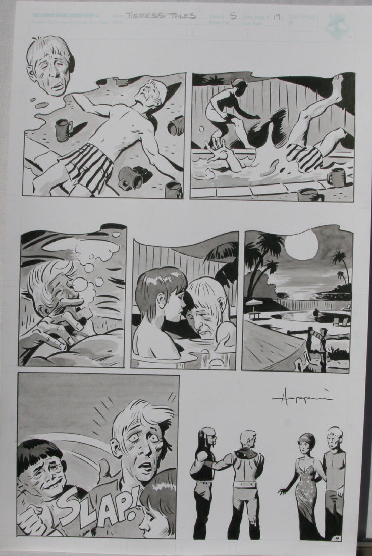 TIGRESS TALES #5 Original Mike Hoffman art, Page #19, Signed, published