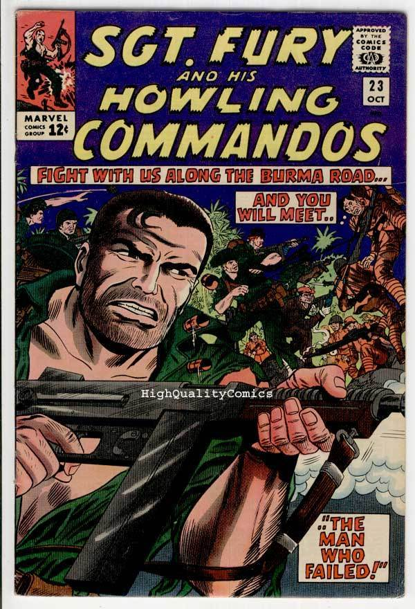 SGT FURY #23, War, WWII, Japanese,Dick Ayers, 1963, FN+