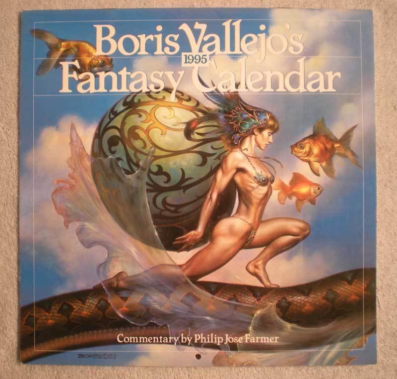 BORIS VALLEJO 1995 Calendar, VF, Good Girl, Femme Fatale, more BV in store