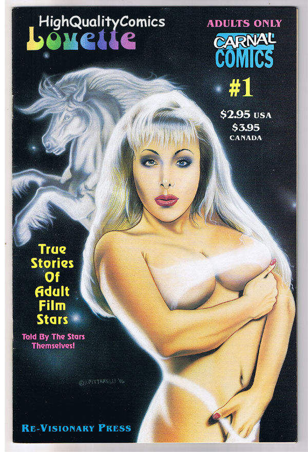 Carnal Comics : LOVETTE #1, Porn Star, 1996, FN+, more in our store