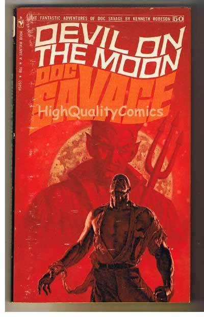 DOC SAVAGE 50 DEVIL ON THE MOON pb, VG+, Ken Robeson, 1970, more in store