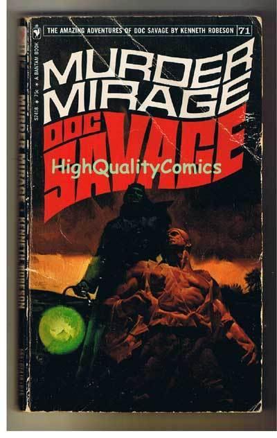 DOC SAVAGE #71 - MURDER MIRAGE pb, VG, Ken Robeson, 1972, more in store