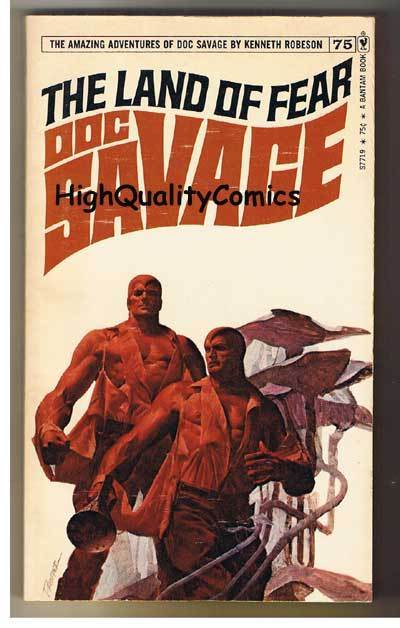 DOC SAVAGE #75 - LAND OF FEAR pb, FN-, Ken Robeson, 1973, more in store