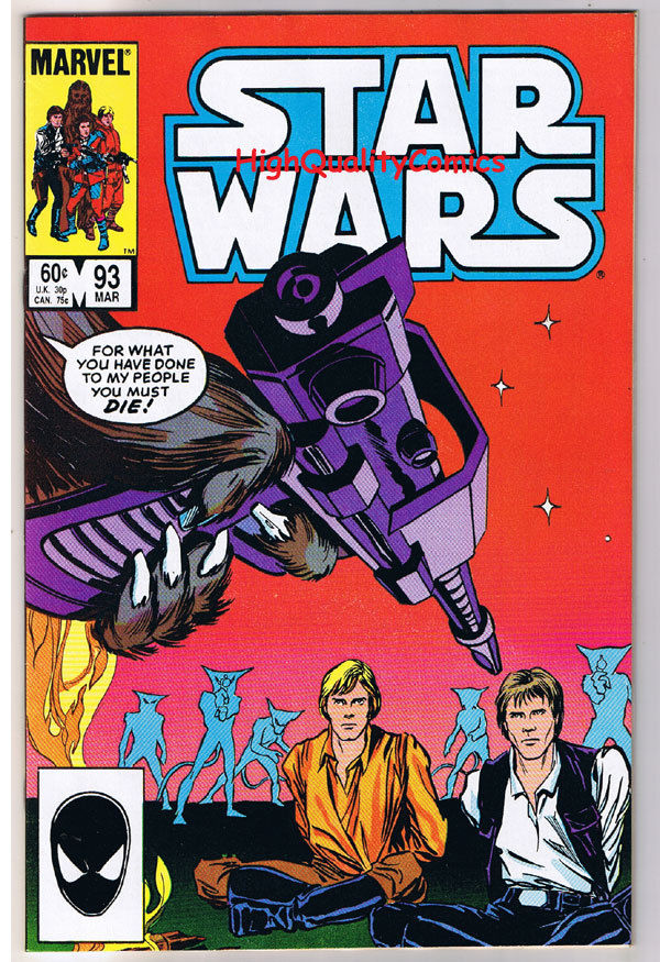 STAR WARS #93, VF/NM, Luke Skywalker, Darth Vader, 1977, more SW in store