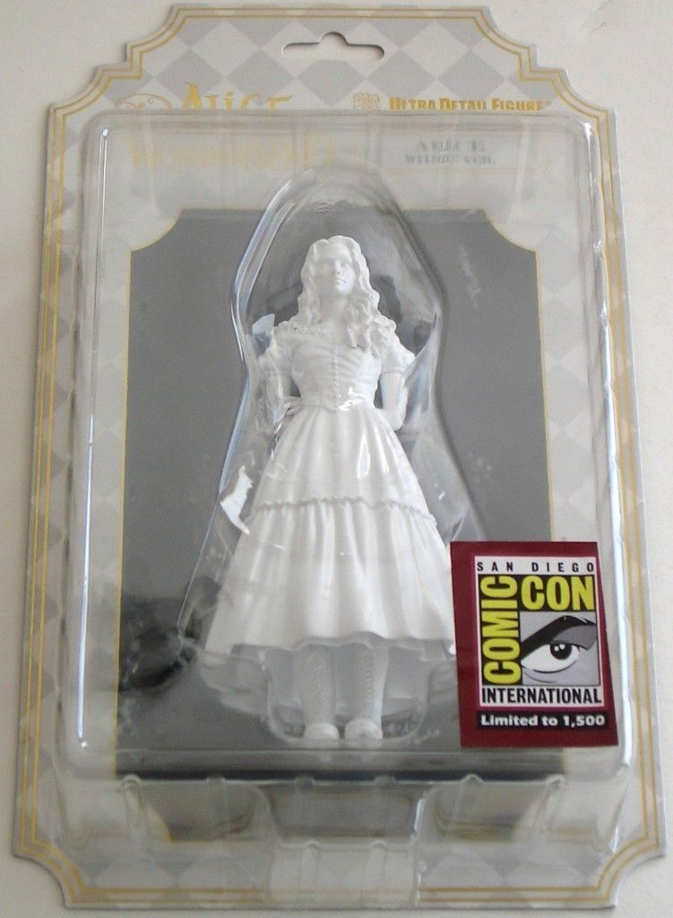 ALICE in WONDERLAND White figure, SDCC Limited to 1500, Disney, NIP,Ultra detail