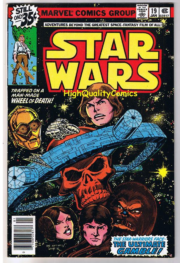 STAR WARS #19, FN, Luke Skywalker, Darth Vader, 1977, more SW in store