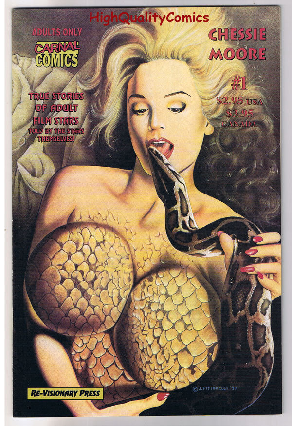 Carnal Comics : CHESSIE MOORE #1, VF/NM, Porn Star, 1997, more Adult in store