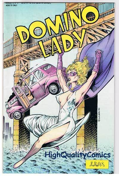 DOMINO LADY #2, VF/NM, Ron Wilber, Adult, Eros, 1990, more indies in store