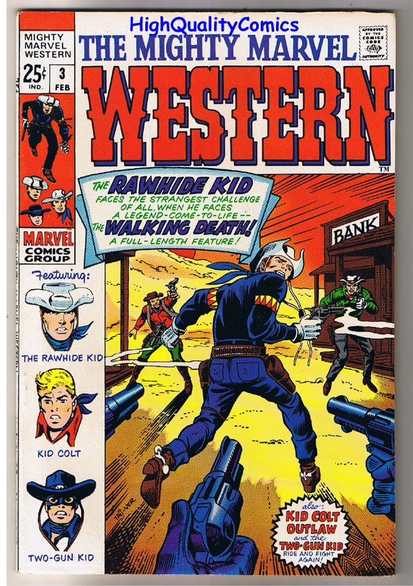 MIGHTY MARVEL WESTERN #3, VF/NM, Rawhide Kid, Colt, 1968, more in store