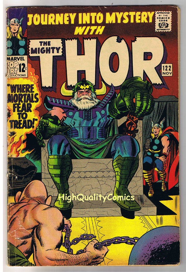 THOR aka JOURNEY into MYSTERY 122, VG, Thunder God, 1952, more Thor in store