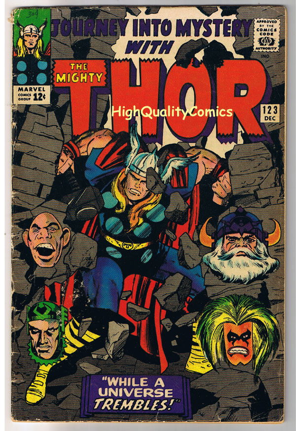 THOR aka JOURNEY into MYSTERY 123, VG+, Thunder God, 1952, more Thor in store