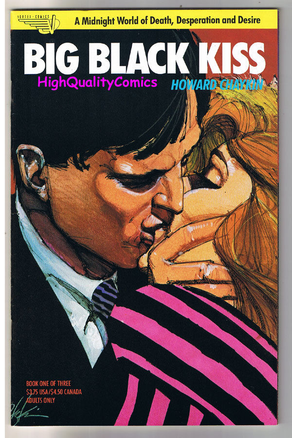 BIG BLACK KISS #1,Howard Chaykin,Adult,Nudity, 1989, NM